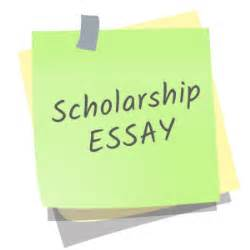 Example of essay for scholarship